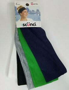 Scunci Wide Stretchy Hairbands Head Wrap 5 pc #16255