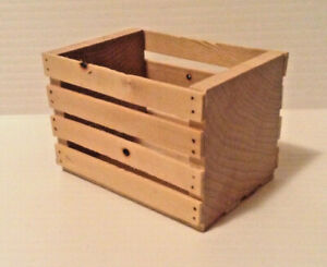 "1:6 or 1:10 Miniature Wood Crate  3"" x 2"" x 2"" New Wood Diorama Action Figure"
