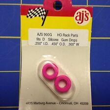 AJ's 900G Silicone Pink Gum Drop Tires Tyco 440 Marchon MR-1 Lifelike Rokar