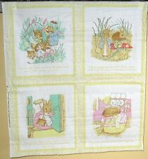 "1 Adorable ""1985 OOP Frederick Warne"" Cotton Fabric Quilting Panel"