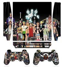 One Piece 275 Skin Sticker Cover PS3 PlayStation 3 Slim and 2 controller skins