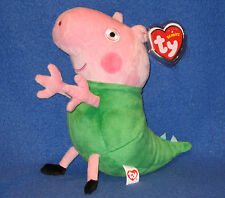 TY GEORGE in DINOSAUR COSTUME BEANIE BABY (UK EXCL - PEPPA PIG) -  MINT TAGS