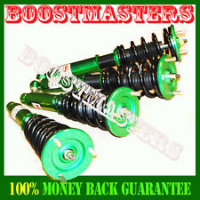 95-99 Mitsubishi Eclipse Full Coilover Suspension non adjustable Dampening Green