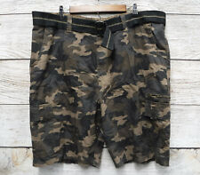 a81c652dba Burnside Big & Tall Mens Size 44 Brown Camo Belted Ripstop Cargo Shorts