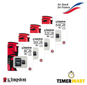 Kingston Micro Memory Card SD Card 8, 16, 32, 64go MICROSDHC Class 10