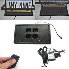 1x Remote Flipper Retractable Car US License Plate Frame Number Swap Blinds 12V