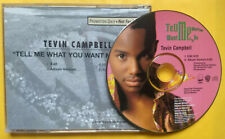 TEVIN CAMPBELL Tell Me What You Want Me To Do PROMO CD SINGLE New Jack Swing R&B