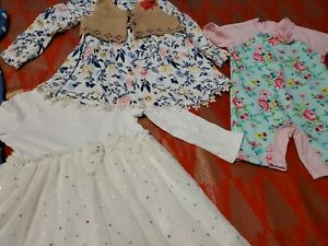 Baby girl clothing lot 24 months dress outwear carters Little me Issac Mizrahi
