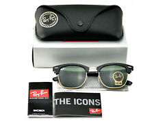 Ray-Ban RB3016 Clubmaster W0365 Black Frame/Green Classic G-15 Sunglasses 51mm
