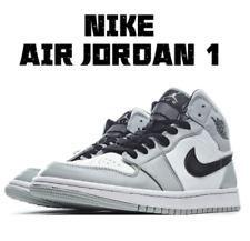 Original NIke Air Jordan 1 Mid Light Smoke Grey Men's & Women's Basketball Shoes