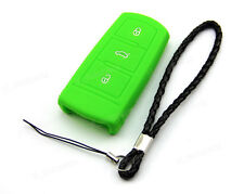 Green Silicone Case Cover For VW Remote Smart Key Passat B6 B7 CC 3 Buttons 3BT