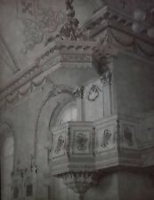 Saint Mathia/Rouville Church Interior, Pulpit, Canada, Magic Lantern Glass Slide