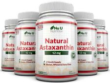 Astaxanthin 12mg - 5 x 180 Softgels (6 Month Supply) High Strength Astaxanthin