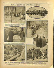 Roumanie Romania Army General Averescu & Grigorescu Ferdinand Ier War 1917 WWI