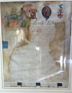 Vellum Charter for The Studio Fallente Laborem, London Institution, England 1807