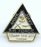 Army Navy Air Force Lapel Pin Citadel Unit 373 Halifax Canada Canadian Military