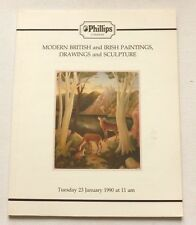 Phillips - Modern British paintings Jan 1990 AUCTION CATALOGUE Karen Jonzen etc