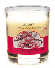 Wax Lyrical Colony Vanilla & Cranberry Scented Small Candle Jar New
