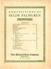 The Swan, Svanene, by Selim Palmgren, The Boston Music, vintage sheet music 1912