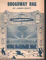 Broadway Rag 1922 James Scott Sheet Music