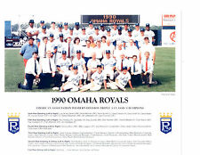 1990 Omaha Royals 8X10 Team Photo Kansas City Baseball Nebraska Usa