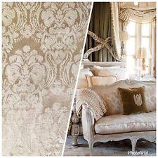 SALE Designer Brocade Satin Damask Fabric- Antique Rose Gold- By The yard