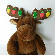 Hal The Moose Build A Bear Plush Christmas Bulb Antlers Stuffed Animal Brown