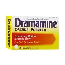 Dramamine Original Formula Tablets Motion Sickness 36 Tablets