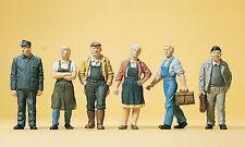 NEUF Preiser 14206 h0 les pompiers 6 personnages peintes à la main
