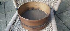 Antique Rustic Curved Wood Fine Gauze Flour Sifter/Vintage Kitchenalia.