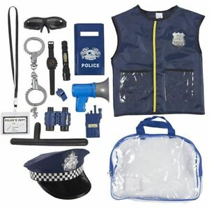 Police Uniform for Kids - 14-Piece Police Officer Costume Role Play Kit