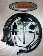 FORD FLATHEAD 239-255 V8 Small HEI Distributor BLACK + 45K Coil + Plug Wires USA