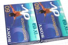Cassette mini DV Sony DVM Pro camescope 60 Mn idéal LP excellence Lot de 2 Neuf