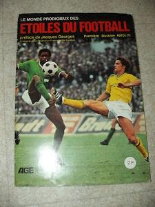 Vintage RAR Album Vignette card les etoiles du football  1970 1971  panini / AGE