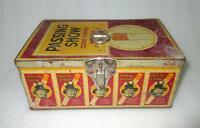 Vintage Passing Show Cork Tipped Virginia Cigarette Ad Litho Tin Box ADV EHS