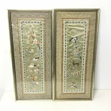 2 x Framed Embroidered Art by Unknown Artist #209