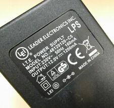 LEADER Trafo-Netzteil 12V 1A Netzadapter mit 2,1/5,5 mm Hohlstecker *D