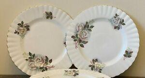 Royal Albert White Roses Salad Plates Set of 4