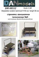 Dan Models 48512 - 1/48 Stepladder Aviation Technical #4(2 Steps),Height 55 mm