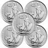 Lot of 5 - 2018 U.K. 2 Pound Silver Britannia .999 1 oz Brilliant Uncirculated