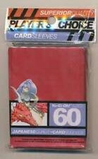 Player's Choice Red Yugioh Sized-Mini 60 ct Sleeves (Player's Choice) New R0V