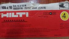 "Hilti Cartridge Short (Cal.6.3/10M) .25 Cal.Yellow #4 Loads 100cnt ""On Sale!"""