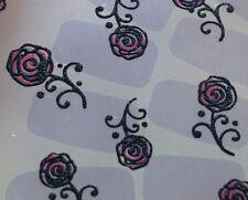Nail Art 3D Sticker Crystal Halloween Decal Black Roses 21pcs/sheet