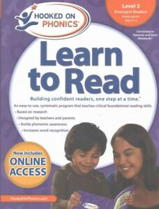 Hooked on Phonics Learn to Read Level 3 Kindergarten, Ages 4-6 : Emergent Rea...