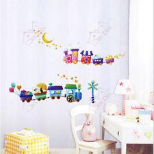 Choo Choo Animal Trains Childrens/Kids Room Wall Stickers Home Decor