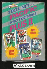 1991 PACIFIC PLUS 2 FOOTBALL BOX