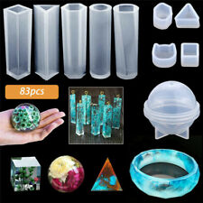 83 Pcs Resin Casting Silicone Molds Epoxy Spoon Kit Jewelry Making Pendant DIY