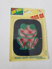 Vintage 1970's Joy-Patch Fusems Small Iron On Patch - Green Frog