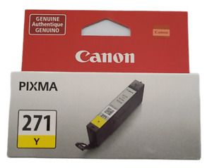 Canon Pixma 271 Y Yellow Ink Cartridge NEW SEALED 1 Pack Genuine