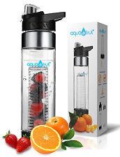 Aquafrut Bottom Loading Fruit Infuser Water Bottle (24oz, Black) USA Seller!